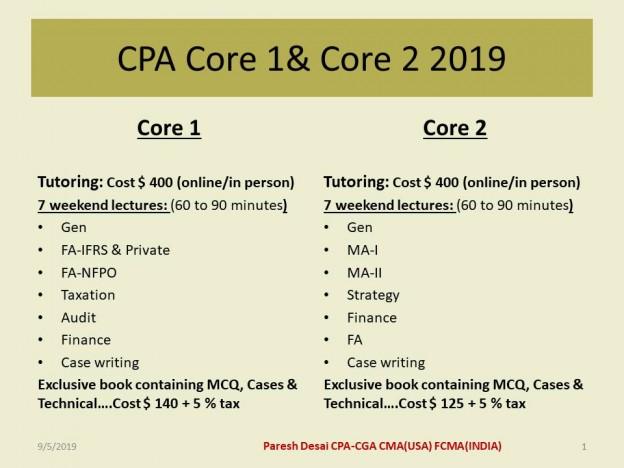 Core 1 & 2